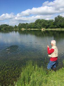 haywards farm lake playing fish